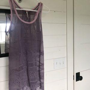 Free People Lavender/ Purple Lace Tunic